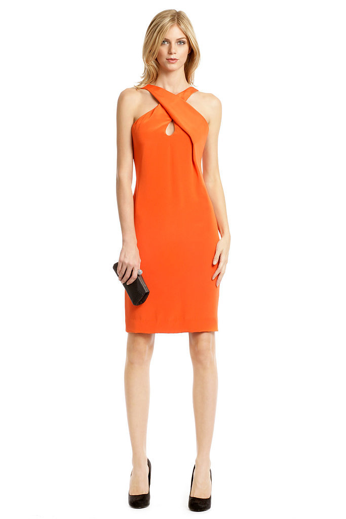 Cushnie et Ochs Orange Cross-Halter Dress ($200 to rent)