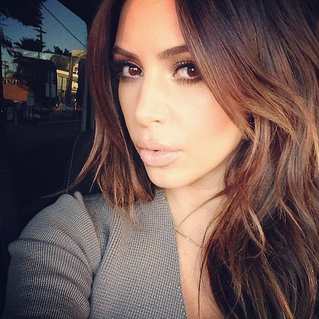 Kim Kardashian showed the world that, yes, her brunette hair is back — at least for now. Source: Instagram user kimkardashian