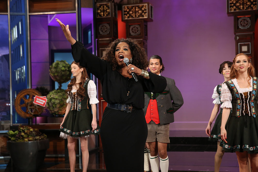 Oprah fully committed to her part of the song.