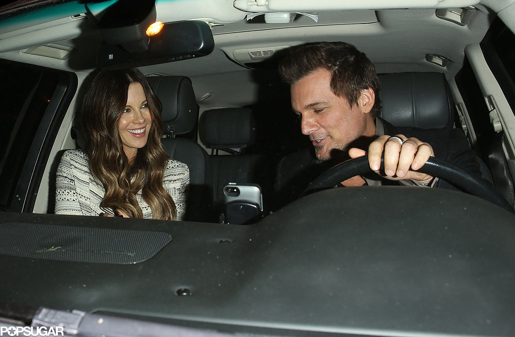 Michael's ex Kate Beckinsale brought her husband, Len Wiseman, to the bash.