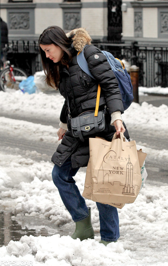 Liv Tyler waded through the slush on Wednesday.