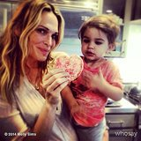 Molly Sims and Brooks Stuber got sweet with their Valentine's Day cooking. Source: Instagram user mollybsims