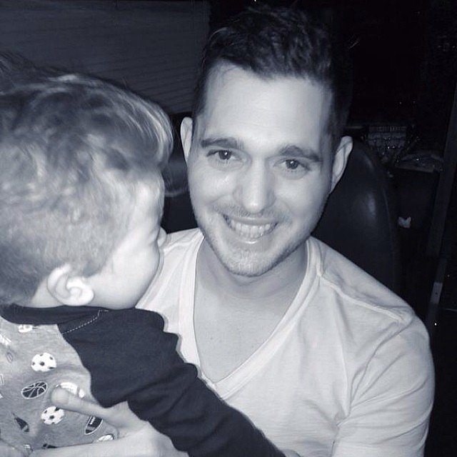 Michael Bublé got a warm welcome from his son, Noah. Source: Instagram user michaelbuble