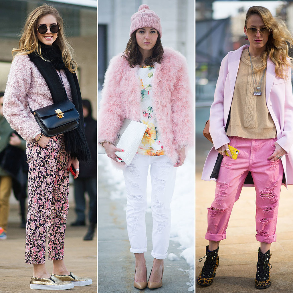 Pink Street Style Trend At Ny Fashion Week Popsugar Fashion