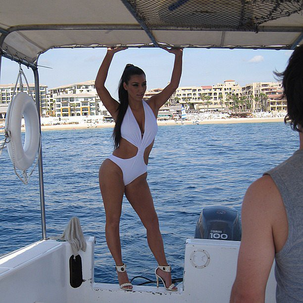 Kim shared this shot from a photo shoot in Cabo. Source: Instagram user kimkardashian