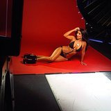Kim stripped down to almost nothing on set. Source: Instagram user kimkardashian