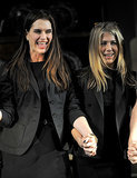 Jen held hands with Brooke Shields after a theater performance in NYC back in November 2009.