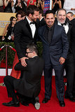 Bradley Cooper got his crotch grabbed at the SAG Awards in January.