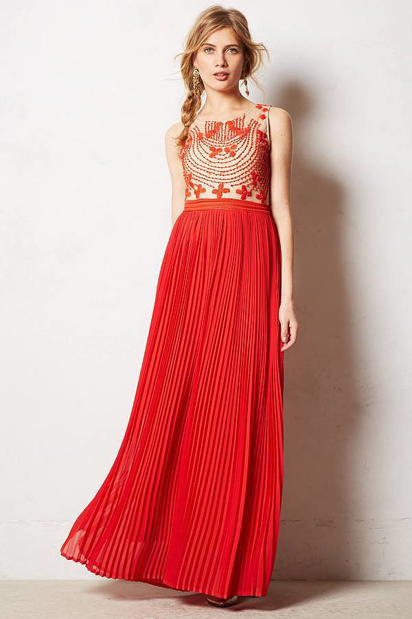 Rina Dhaka Pleated Maxi Dress