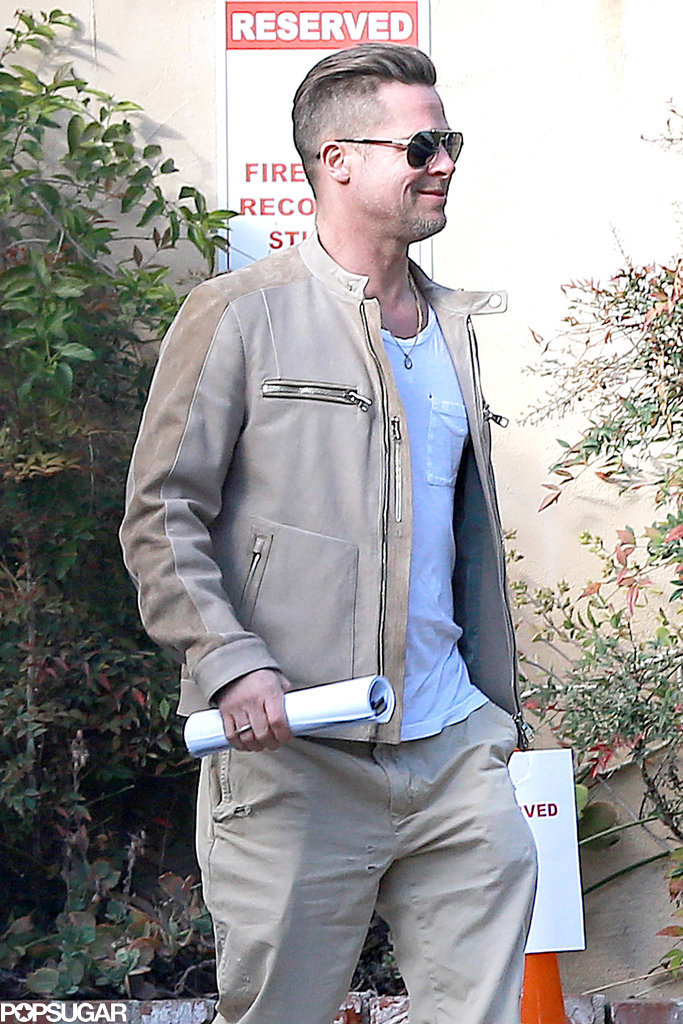 Brad Pitt Looks Pumped About a Possible New Project