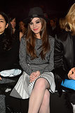 Hailee Steinfeld was fashionable in the front row of the Prabal Gurung show on Saturday.