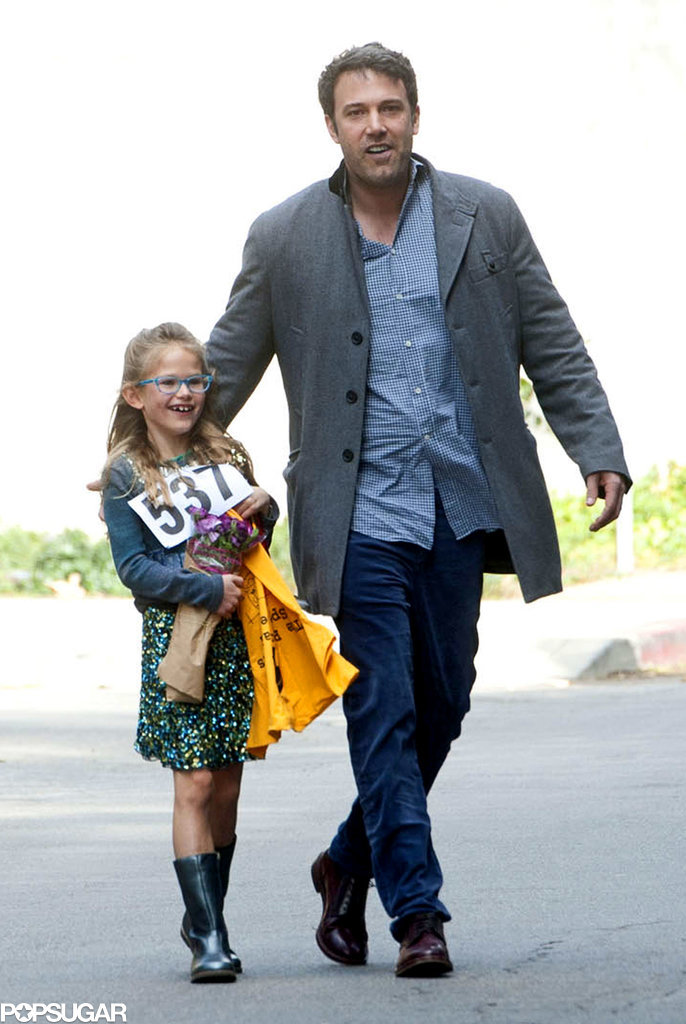 Ben and Violet Affleck were all smiles in LA after her superior spelling bee performance on Sunday.