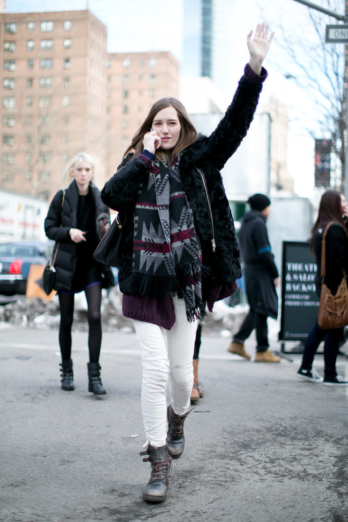 A notice-me scarf will make hailing a cab easy.