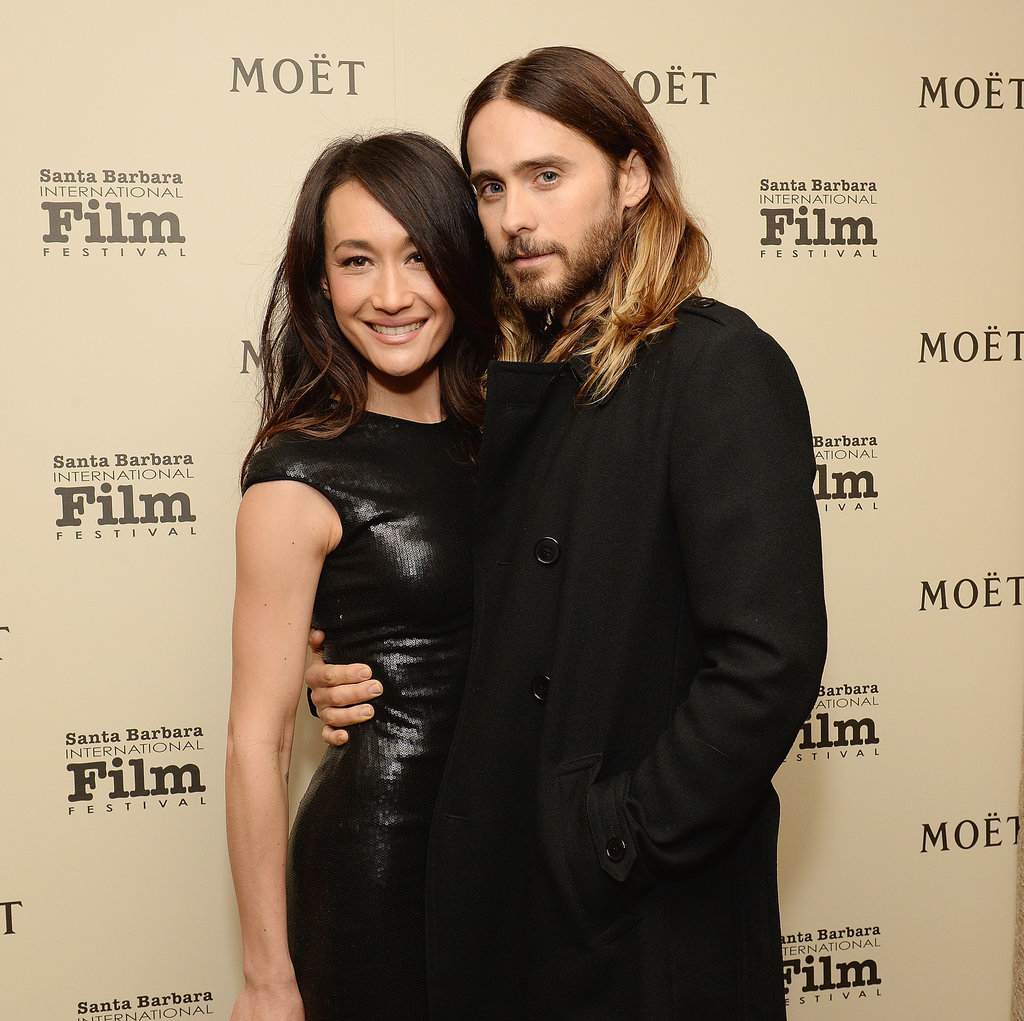 Jared posed with actress Maggie Q at the Santa Barbara Film Festival.