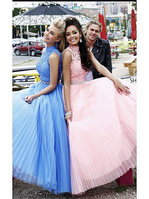 Periwinkle Sherri Hill 21334 Backless Prom Dress
