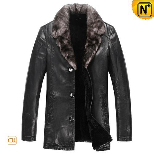 Leather Shearling Sheepskin Coat CW868861