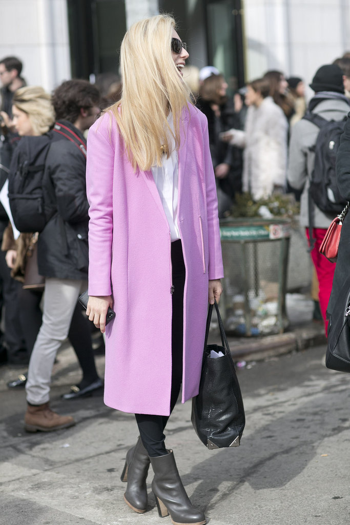 Joanna Hillman was chic in pink.  Source: Tim Regas