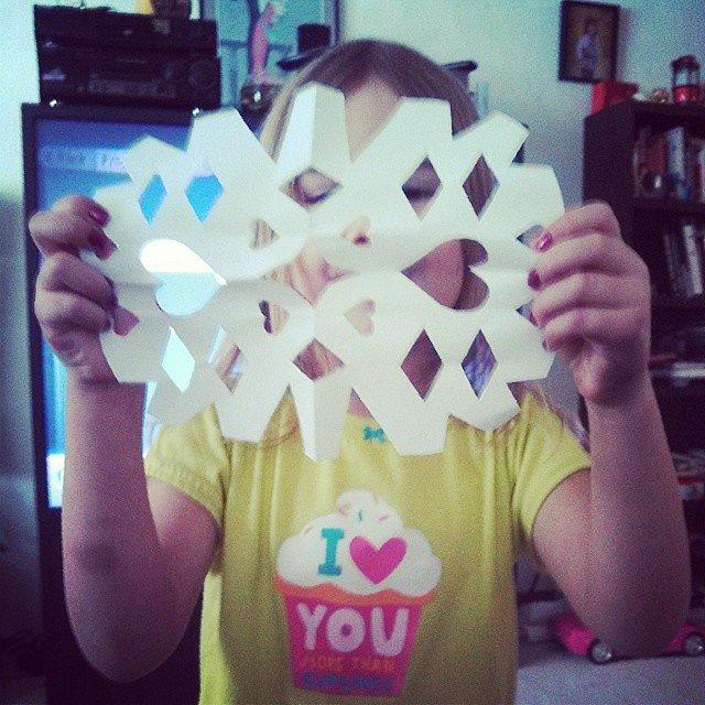 Scissored Snowflakes