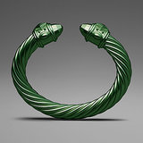 David Yurman Green Aluminum Cable Bracelet