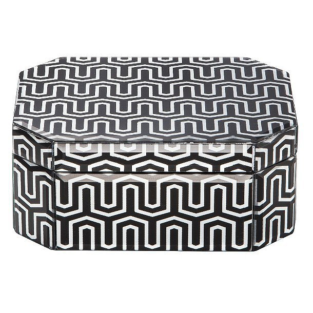 Bring mesmerizing shapes into your space with the help of this geometric jewelry box ($13).