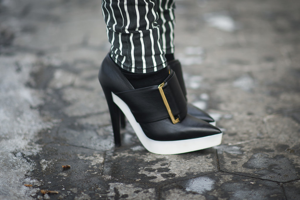We spy some serious Stella McCartney heels in the snow.