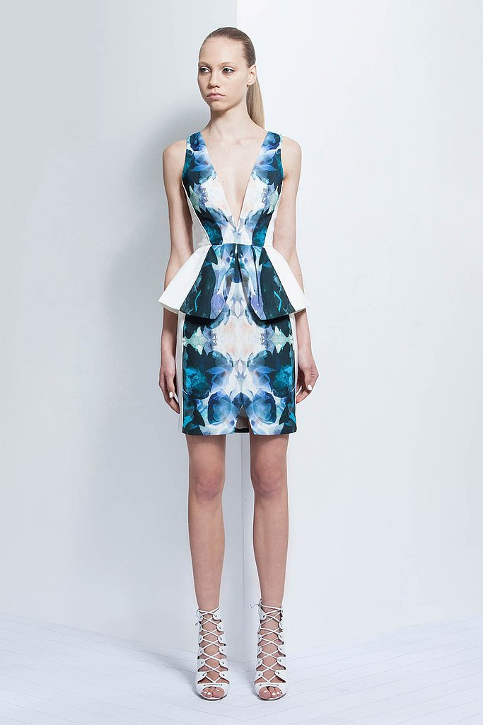 The Plunging, Printed Dress