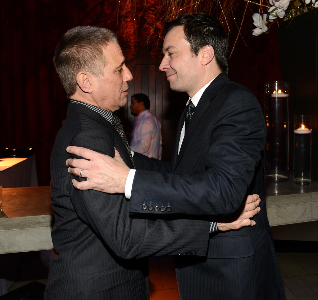 Jimmy Fallon greeted Tony Danza.