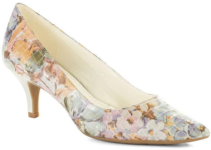 Anne Klein floral-print Isana heels ($79)
