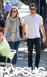 Emily VanCamp and Joshua Bowman held hands on Monday while walking around LA.