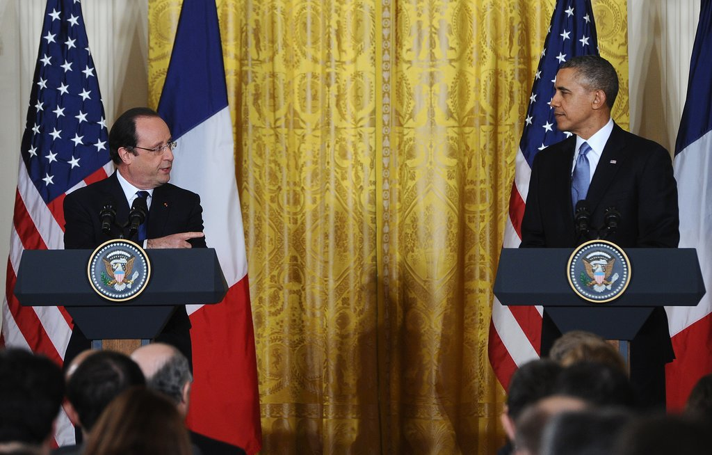 "And Hollande was like, ""No, you're the man."""