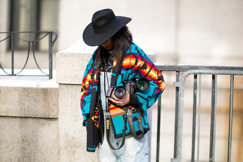 Fashion Week: when cameras make great accessories, too.