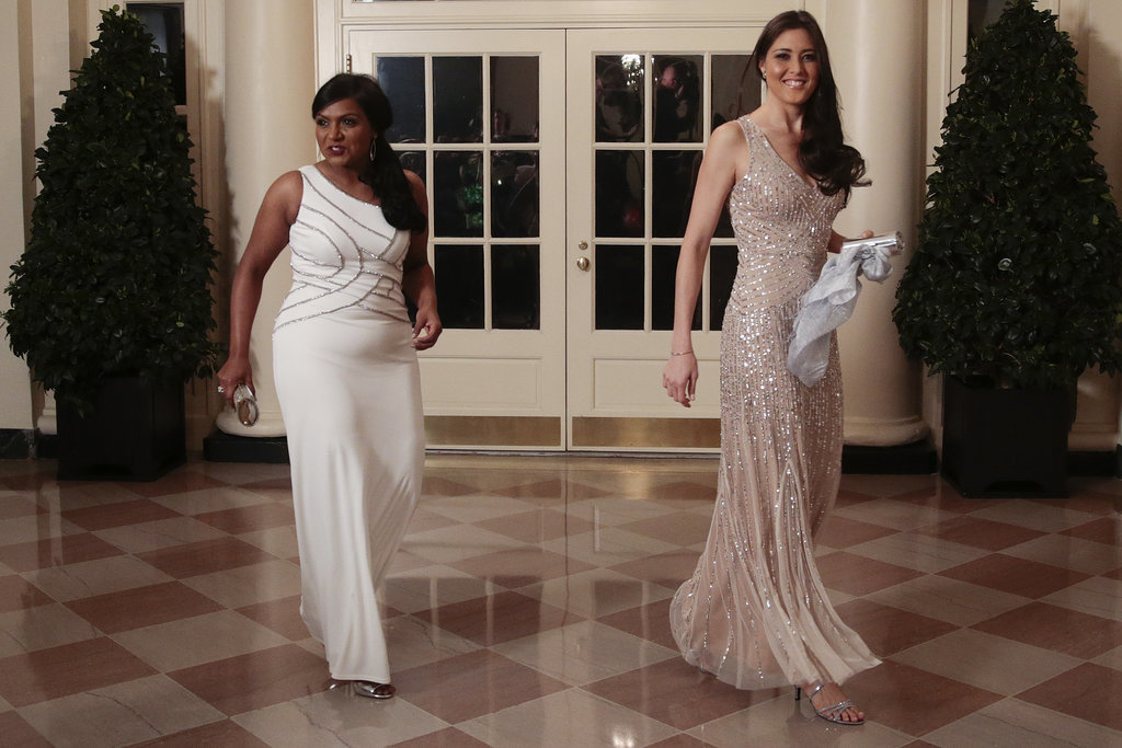 Mindy Kaling and Jocelyn Leavitt made their way in.