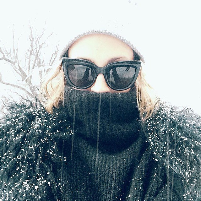 Nicole Richie tried to stay warm while running around NYC during Fashion Week. Source: Instagram user nicolerichie