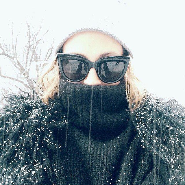 Nicole Richie tried to stay warm while running around NYC during Fashion Week. Source: Instagram user nicolerichie