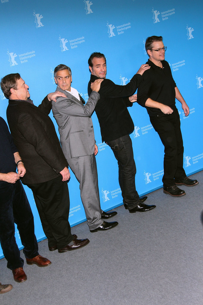 Then, in Berlin, the boys started a conga line. Matt was in the front.