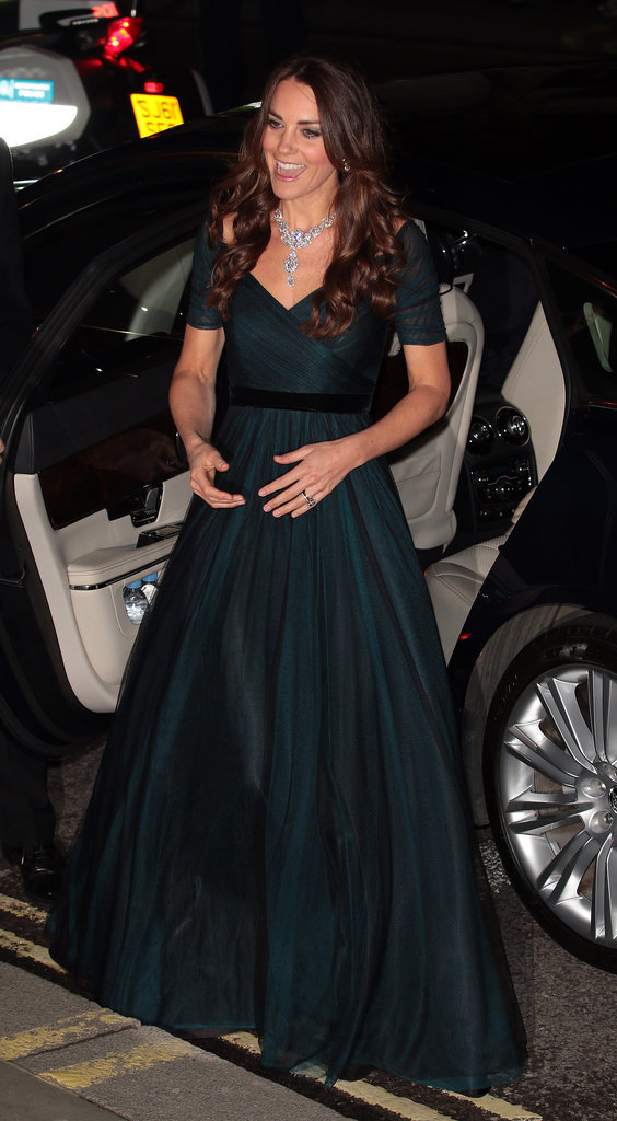 Kate Middleton borrowed a necklace from the Queen to attend an event in London on Tuesday night.