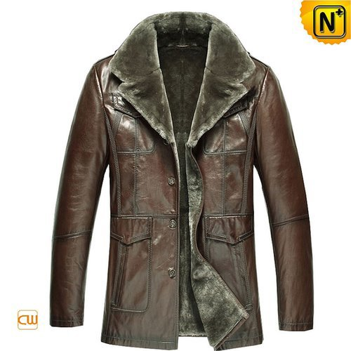 Sheepskin Lined Shearling Coat Men CW868813