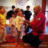 Harper Smith signed up for her first tae kwon do class.  Source: Instagram user tathiessen