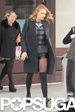 Blake Lively Braves 24-Degree Temps in Tiny Shorts