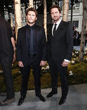 Scott Eastwood and Gerard Butler made a handsome pair at the Hugo Boss womenswear show.