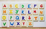 Rainbow Alphabet Cookies