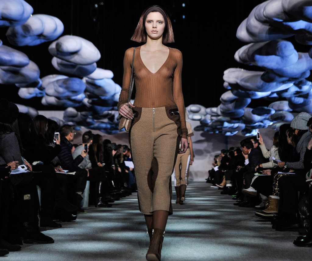 Kendall Jenner Walks the Runway in a Completely Sheer Shirt