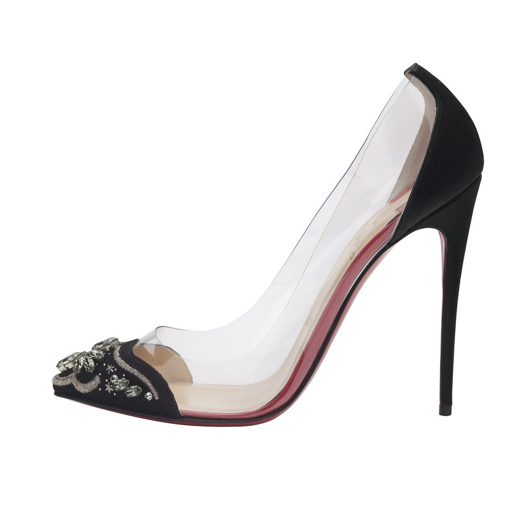 Christian Louboutin Bollywood Boulevard 120 Satin PVC Black