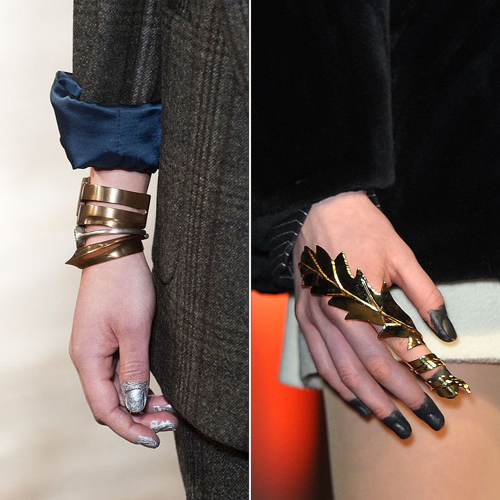 Remember when Lorde wore her nails dipped in black paint at the Grammys? Well, it looks like the trend has made it's way to the Fall 2014 runways, but our Facebook fans aren't exactly rushing to try this manicure.