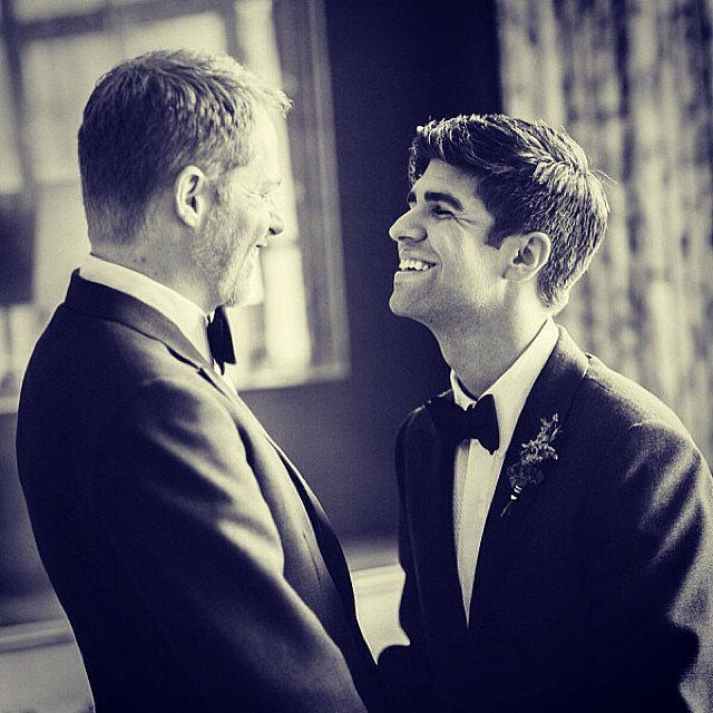 Jesse Tyler Ferguson celebrated the special day with a #FlashbackFriday post of his wedding in 2013. Source: Instagram user jessetyler