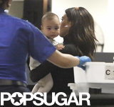 Kim Kardashian and North West Jet-Set on Valentine's Day