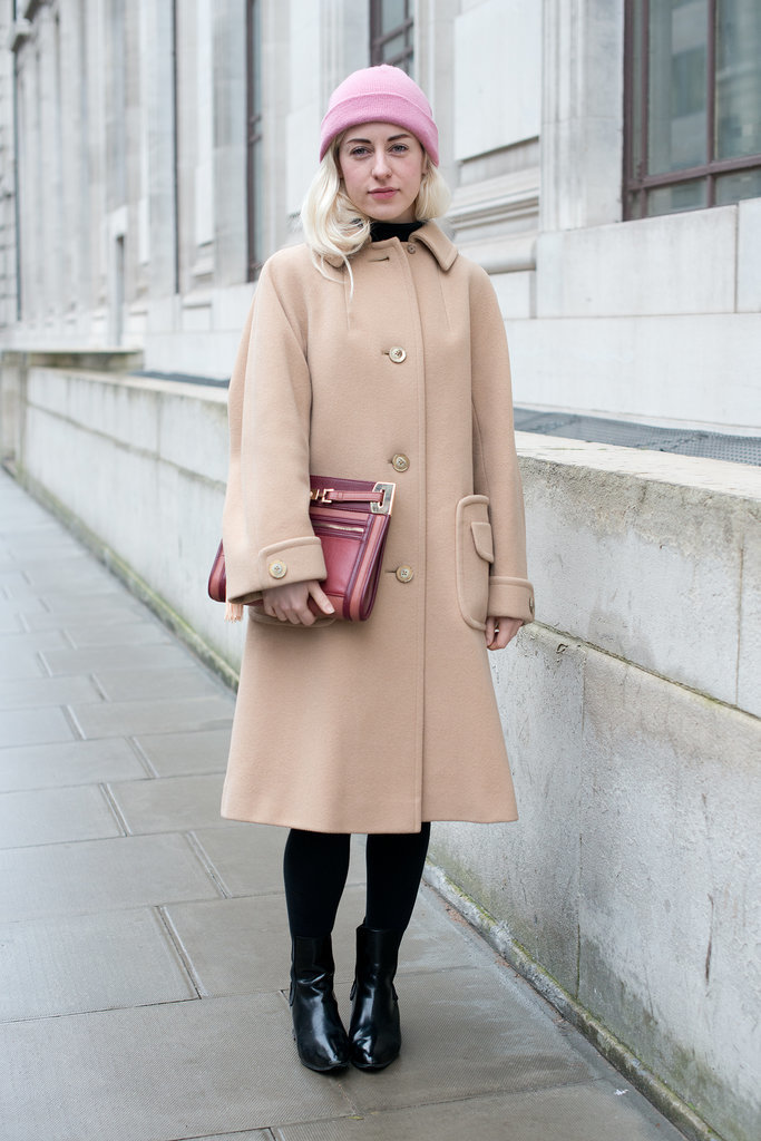 The classic camel coat is a timeless find that will never go out of style.
