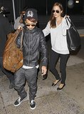 Angelina and Maddox left LA on Friday.
