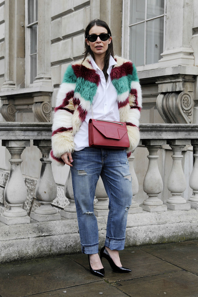 A statement fur coat is the perfect option in cold temperates.