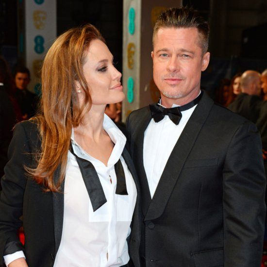 Brad Pitt and Angelina Jolie at 2014 BAFTA Awards